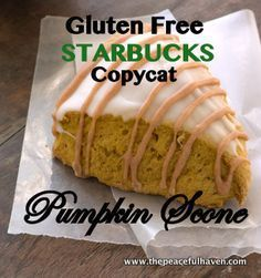 Gluten Free Starbucks Copycat Pumpkin Scone Recipe #glutenfree #starbuckscopycat More
