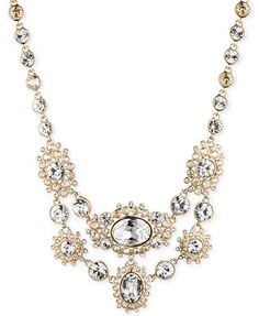 Givenchy Gold-Tone Crystal Collar Necklace