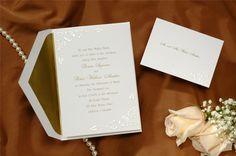 Hawaiian Theme Border in Pearl Wedding Invitations  VERY SIMPLE, HIBISCUS DESIGN