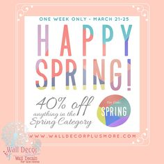 Last Day to enjoy this Spring Sale!! Shop our large selection of decals today!
