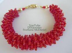 Видео мастер-класс: Beaded Fur Bracelet DIY Бисерный мех - YouTube - Бисероплетение