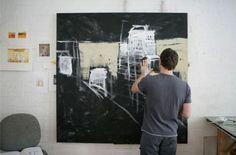 paul balmer/ artist in studio