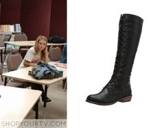 63cfe92d1 Faking It: Season 2 Episode 15 Amy's Knee High Boots – Shop Your TV Boot