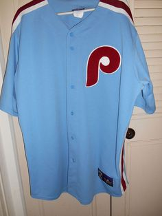 Philadelphia Phillies Cooperstown Collection Throwback 2XL Jersey Baseball Blue #Majestic #PhiladelphiaPhillies