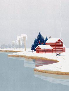 Ideas For House Illustration Design Draw Art And Illustration, Christmas Illustration, Illustrations Posters, Pattern Floral, Sketch Inspiration, Art Graphique, Land Scape, Illustrators, Art Prints