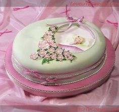 Christening cake step by step