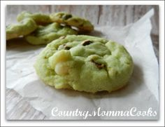 Pistachio White Chocolate Chip Cookies @CountryMommaCooks