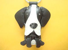 Kiba the Great Dane leather keychain  Black  by leatherprince, $20.90. Want this.