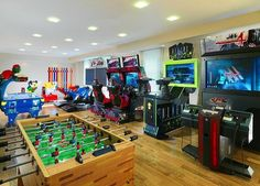 Modern Ligting In Cool Gaming Rooms Interior Design Ideas At - Kids games room ideas
