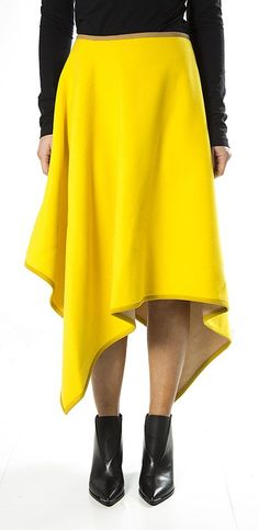Frip - Asymmetric wool skirt MARIOS