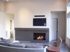 fireplace with modern shapes
