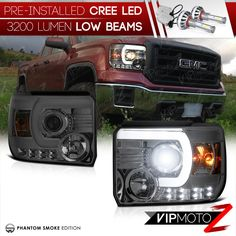 14-15 Chevy Silverado 1500 Summit White Headlight+Taillight Trim Bezel Cover