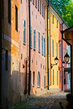 Wunderschöne bunte Straßen in #Turku