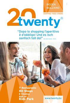 Für das Einkaufszentrum TWENTY in Bozen - mit 80 Shops, 7 Restaurants, & 6 Cinemas und einem 500m2 Mega Kids-Park - entstand eine neue Werbekamapgne für Citylight, Print, Web und Social Media. www.rotwild.it/blog