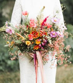 Wildflower bouquet for the bride