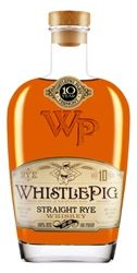 WhistlePig Straight Rye - 100 proof - Vermont whiskey. Strong vanilla and caramel nose with a strong rye bite to the taste. Big front finish with a slight warm crawl backward. Flavorful for a 100-proofer. Warm and welcoming to the belly. I hear this is rare to out of circulation. Sad. It's good.