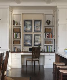 desk nook in kitchen