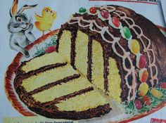 EASTER EGG 4 layer CAKE....1953. .from a box mix: Photo - 3   Just A Pinch Recipes