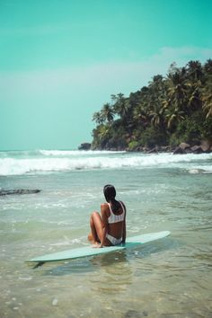 Posted up in paradise with Malia Murphey    Surfing in Sri Lanka
