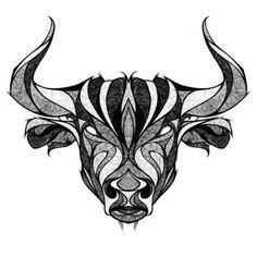 Taurus The Bull Head Tattoo Design