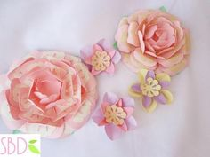 Fiori di carta New style tutorial e modelli - Paper flowers New Style templates - Paperblog Tutorial, How To Make, Handmade, Design, Home Decor, Style, Paper Flowers, Swag, Stylus