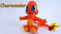 How to Make a Charmander Pokemon plushie tutorial. With template