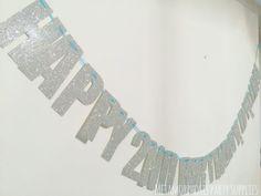 Image of Glitter birthday banner