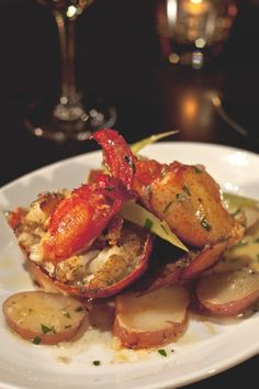 Lazy Man's Maine Lobster at N9NE Steakhouse inside #ThePalms in #Vegas! - 2 lb. Whole Maine Lobster, Out of its shell for easy eating. Bliss Potatoes, Braised Celery, White Wine & Tarragon Butter -