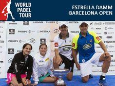 Ganadores de la primera prueba del #WorldPadelTour , el #EstrellaDammBarcelonaOpen