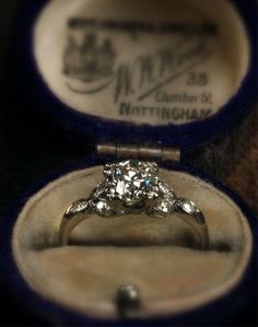 1930s engagement ring.