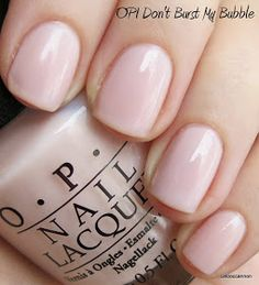 OPI Don't Burst My Bubble is from the new spring 2013 Oz collection.  It's a slightly pink but mostly white / slightly nude color with a she...
