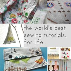 Tons of sewing tutorials!