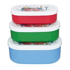 Set of 3 Tiny Trains Snack Boxes