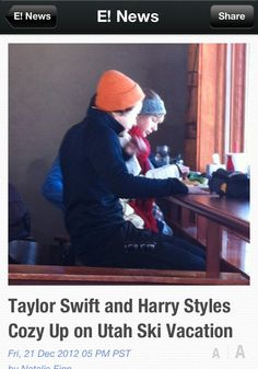 ..... I can't. This is just. No. Please. Oh.  [On the bright side. I'm going skiing where HARRY did!!] Unfortunately Taylor was there too.