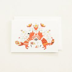 Cute Fox Card