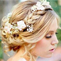 Perfect Wedding Hair // Flower Crown & Braid