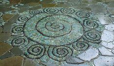 Stone mosaics for outdoors