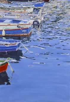"huariqueje: "" Sterns in Blue - Paula Varona Spanish, b.1963- Oil on canvas, 55 x 38 cm. """