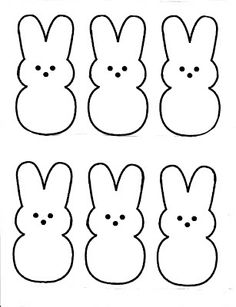 marshmallow peeps pattern , that can be used in a lot of different ...