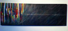 Uitspatting (acryl eigen werk).abstract. 150 x 50.    (B x H). Alien