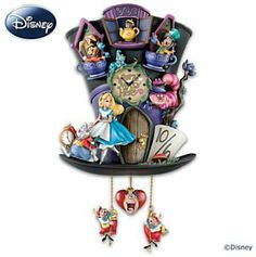 "Disney Alice In Wonderland ""Mad Hatter"" cuckoo clock - http://www.insidethemagic.net/merchandise/disney-alice-in-wonderland-mad-hatter-cuckoo-clock/"