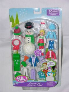 New+Polly+Pocket+Snow+Cool+Sled+Snowman+Styles+Snowman+Winter+Fashions+2005+
