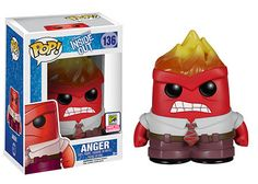 Disney's Inside Out Anger with flame head Pop! figure by Funko, SDCC exclusive 2015