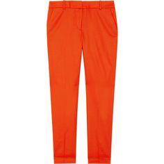 J.Crew Café wool-twill Capri pants ($50) ❤ liked on Polyvore