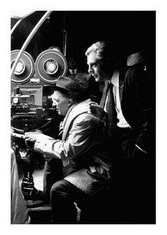 Frederico Fellini and Marcello Mastroiani, Cine Cita, Rome, June 1962