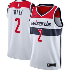 Men's Washington Wizards John Wall Nike White Swingman Jersey - Association Edition is in stock now at NBA Store and Guaranteed Authentic. Basketball Vests, Basketball Uniforms, Basketball Court, Basketball Shoes, Pitt Basketball, Indiana Basketball, Sports Jerseys, Basketball Tickets, Basketball Birthday
