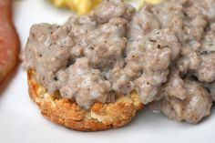 Primal Biscuits and Gravy  #justeatrealfood #cupcakesomg