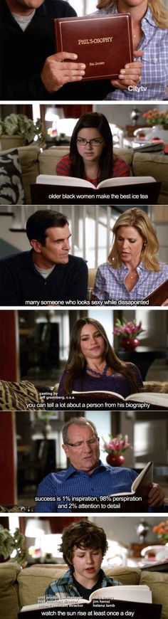 Modern Family 24 Examples Of Infinite Wisdom From Movie And TV Dads Tv Show Quotes, Movie Quotes, Funny Quotes, Best Tv Shows, Favorite Tv Shows, Modern Family Memes, Jokes For Teens, I Laughed, Infinite