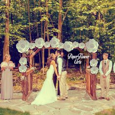 Hey, I found this really awesome Etsy listing at https://www.etsy.com/listing/269659143/wedding-wall-set-paper-flower-wall