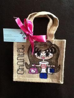 Chantel Small Jute Bags, Burlap, Reusable Tote Bags, Hessian Fabric, Jute, Canvas